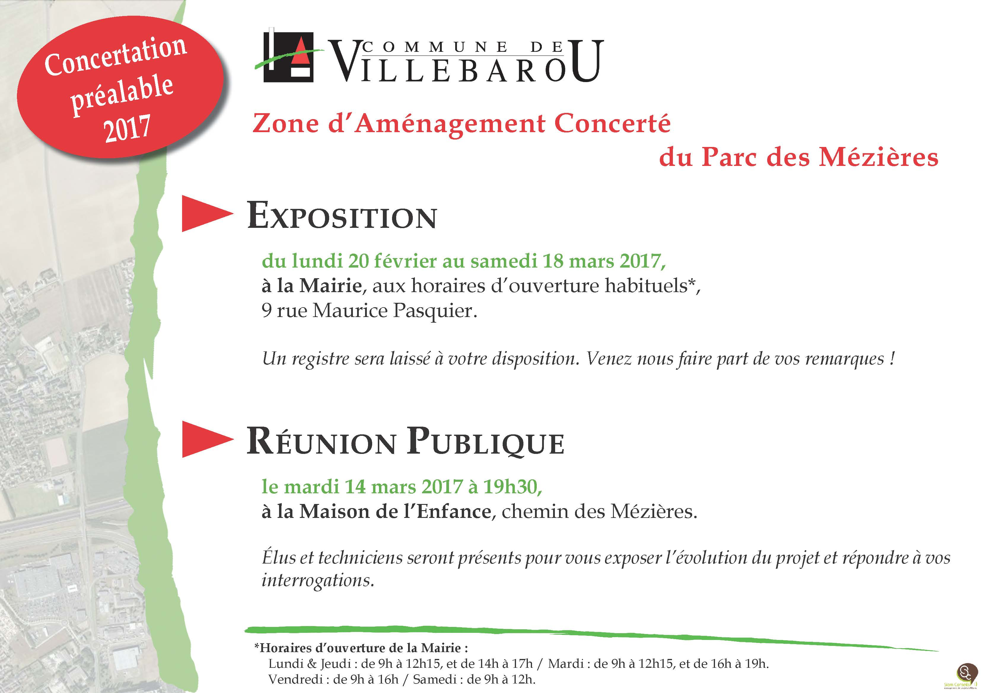 Réunion publique ZAC du Parc des Mézières