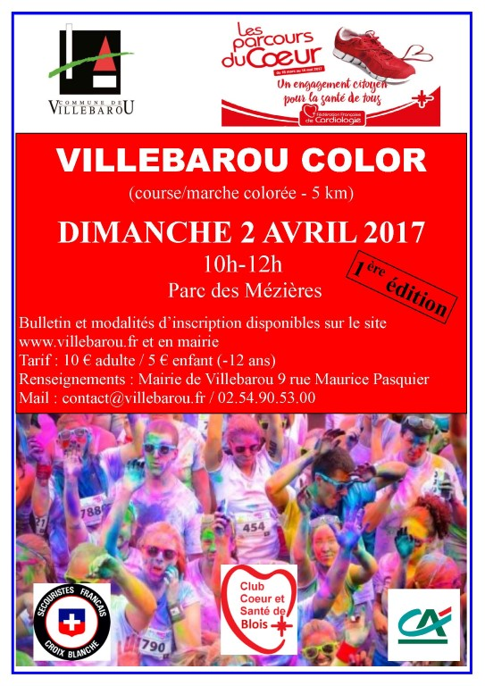 Villebarou Color - Course/marche colorée