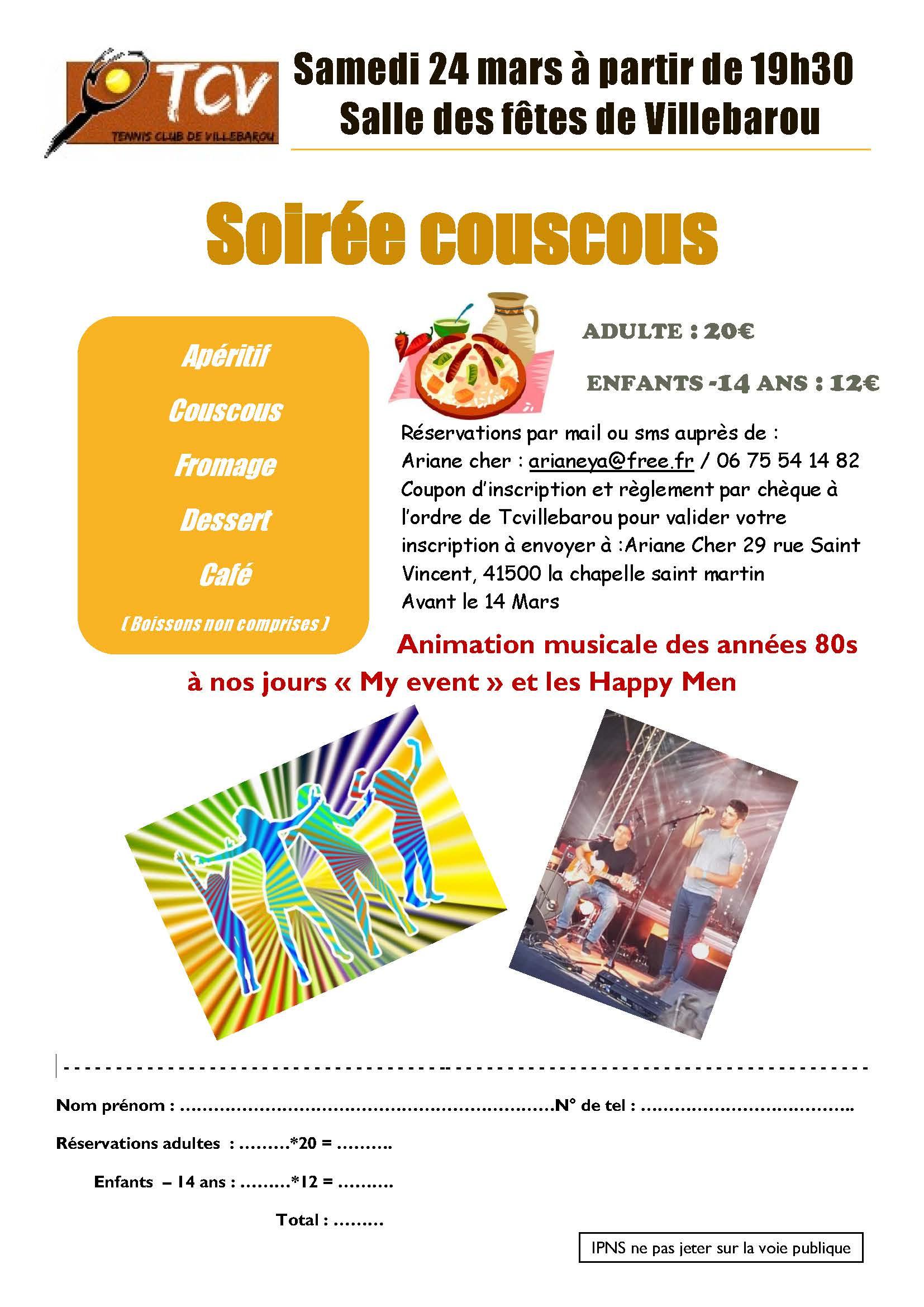 Tennis Club Villebarou-Soirée Coucous