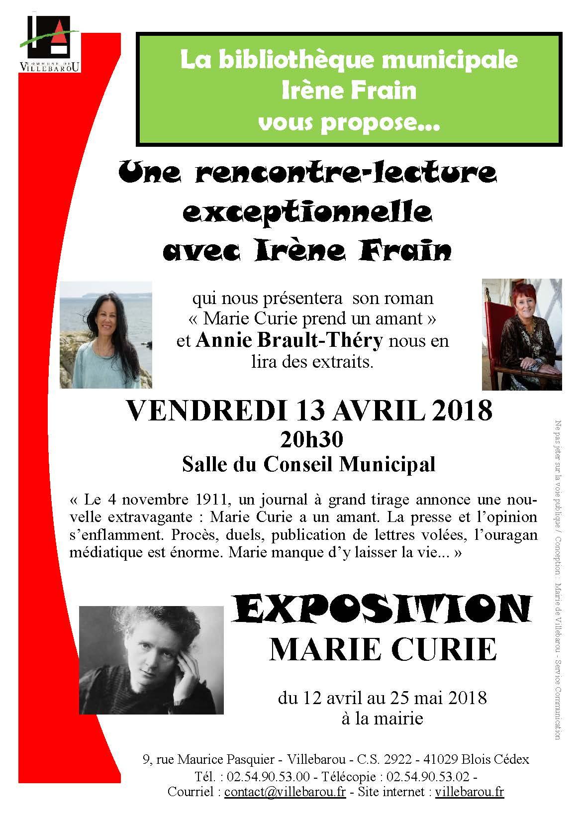 Rencontre lecture Irène FRAIN