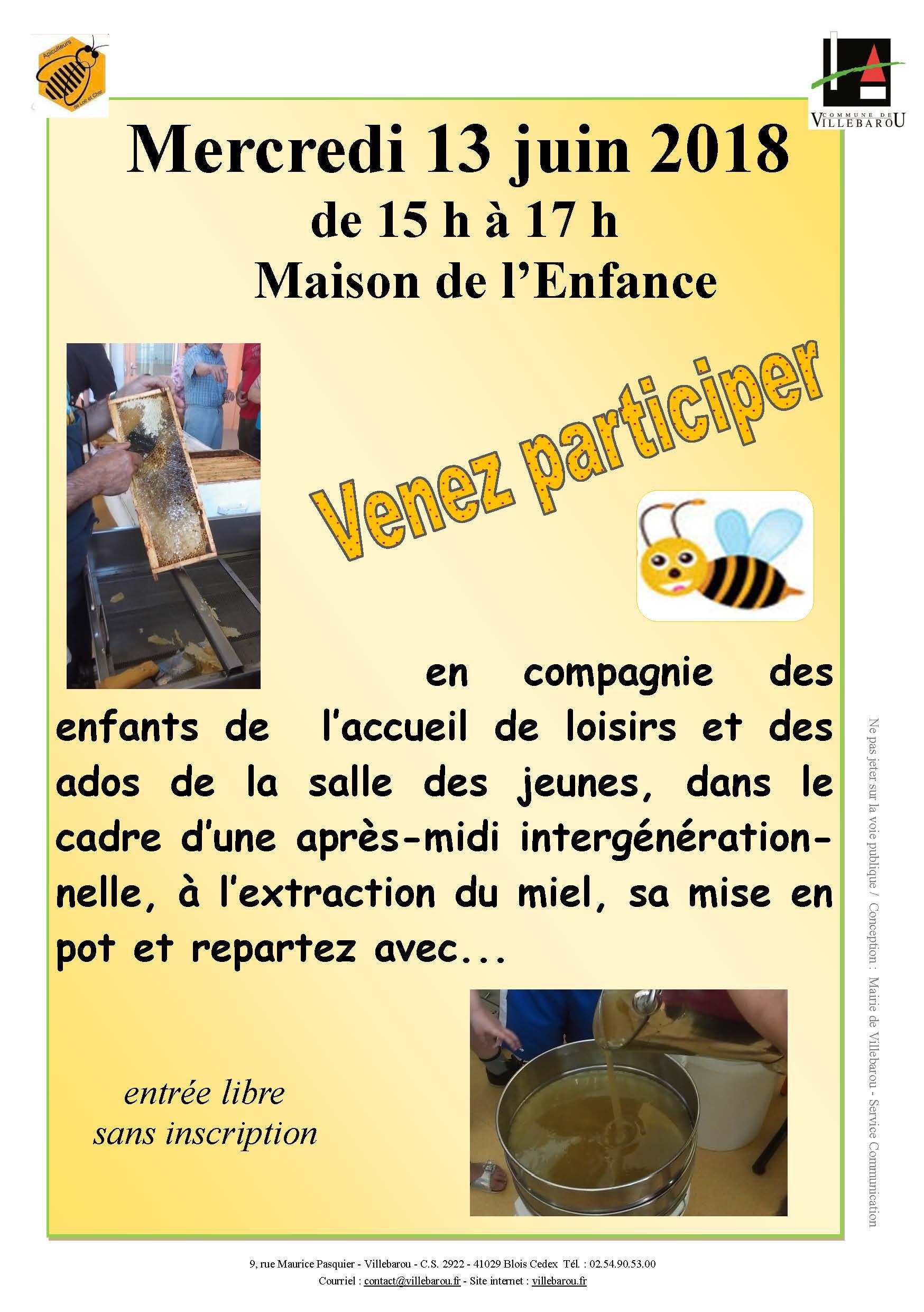 Récolte publique de miel