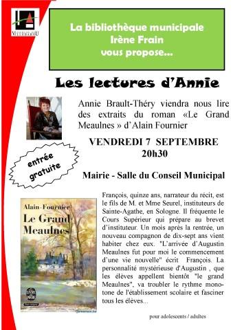 """Lecture publique """"Le Grand Meaulnes"""""""