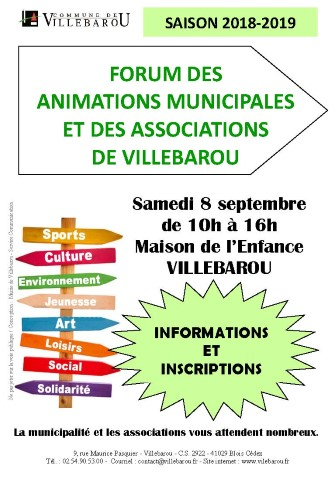 Forum des animations municipales et des assocaitions de Villebarou