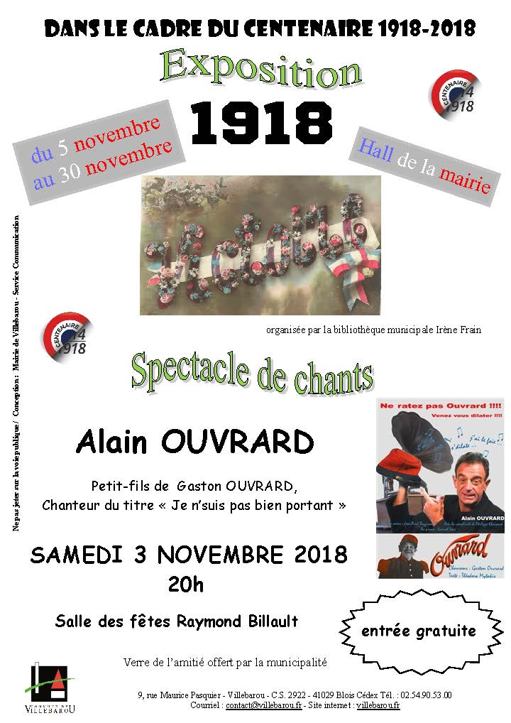 Spectacle de chants par Alain OUVRARD