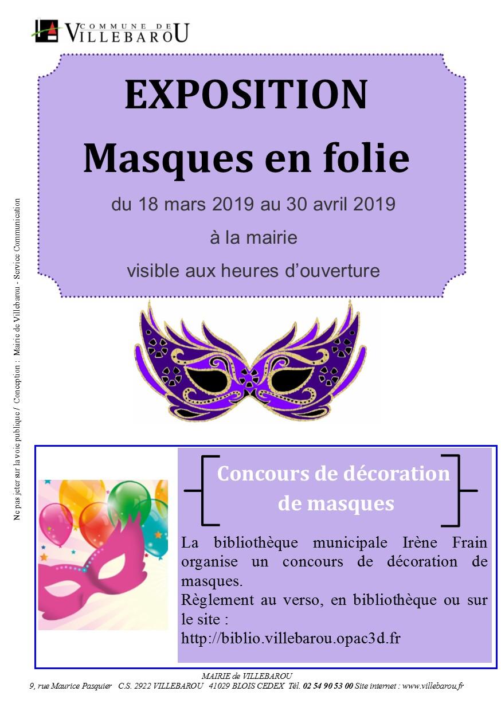 """Exposition """"Masques en folie"""""""