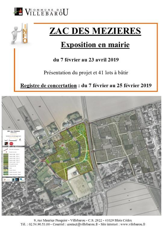 ZAC des Mézières- Exposition du projet + Registre de concertation