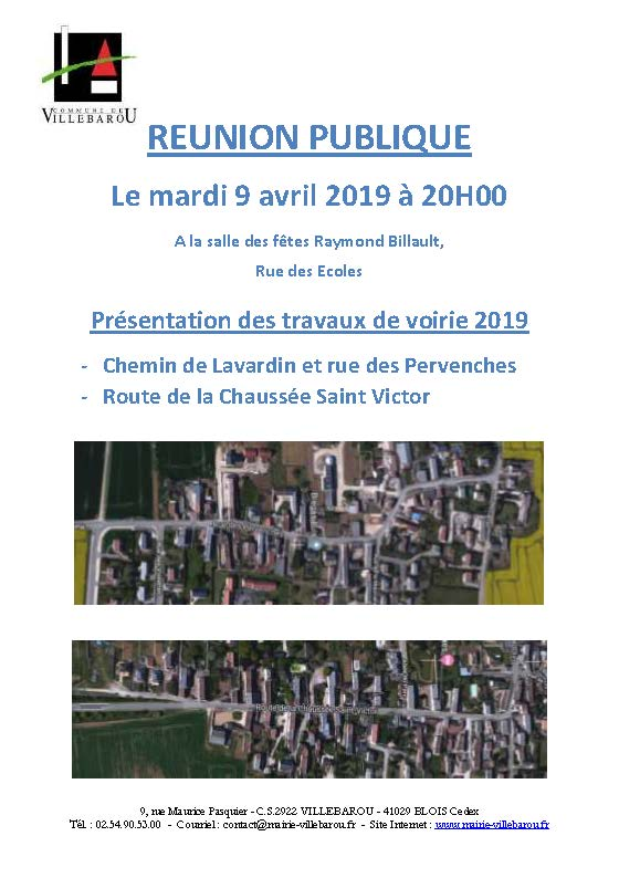 Réunion publique - Travaux de voirie 2019