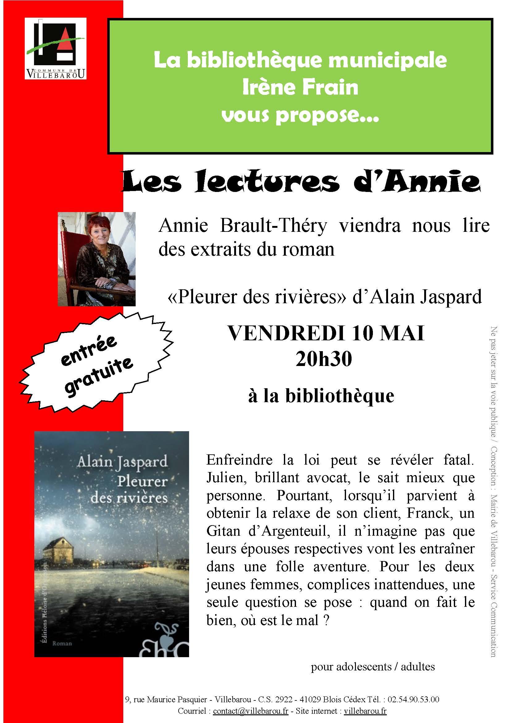 Lecture publique par Annie BRAULT-THERY