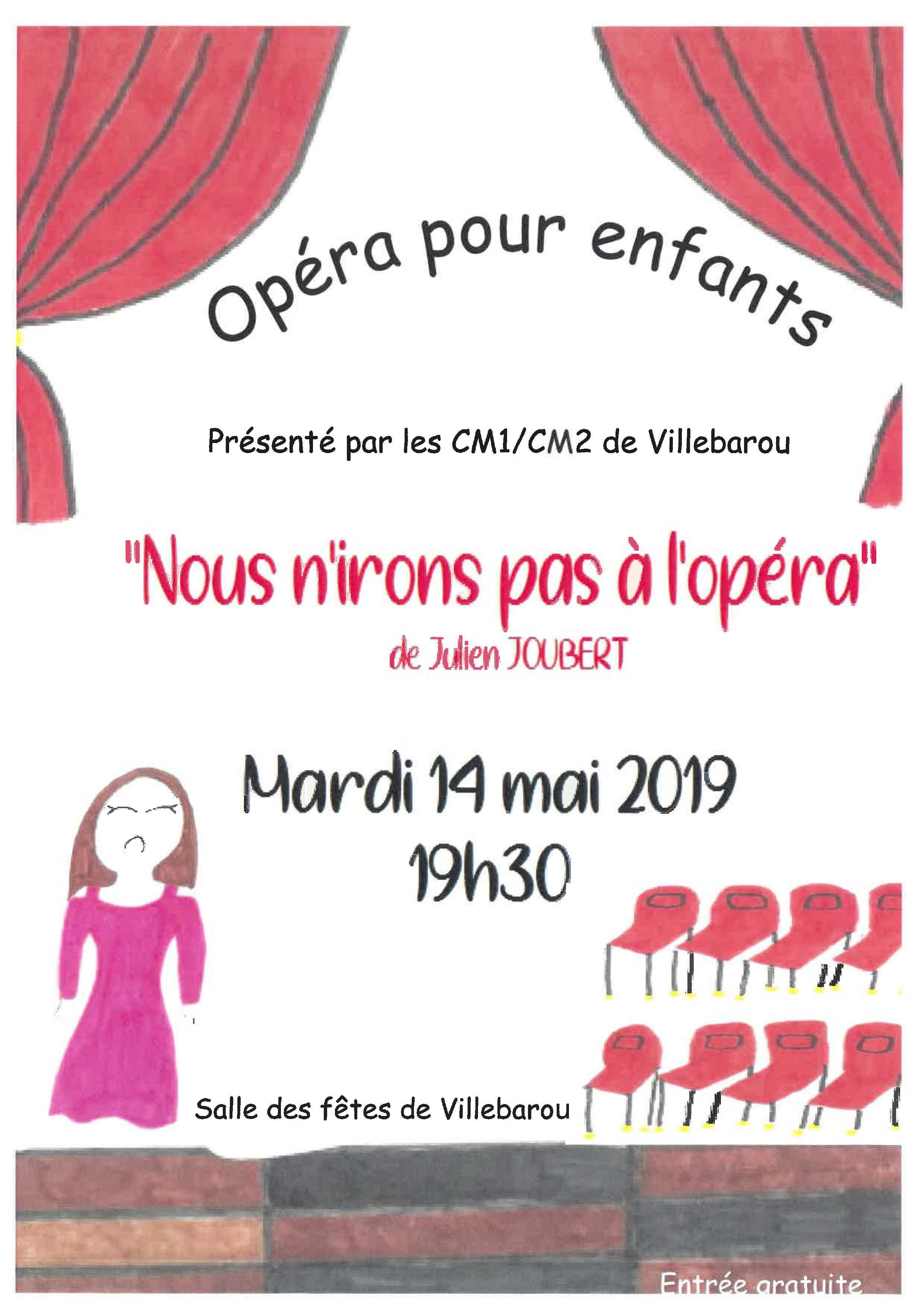 """Opéra pour enfants """"Nous n'iront pas à l'opéra"""""""