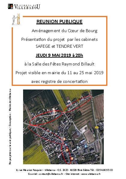 Réunion publique/Présentation du projet d'aménagement Coeur de bourg