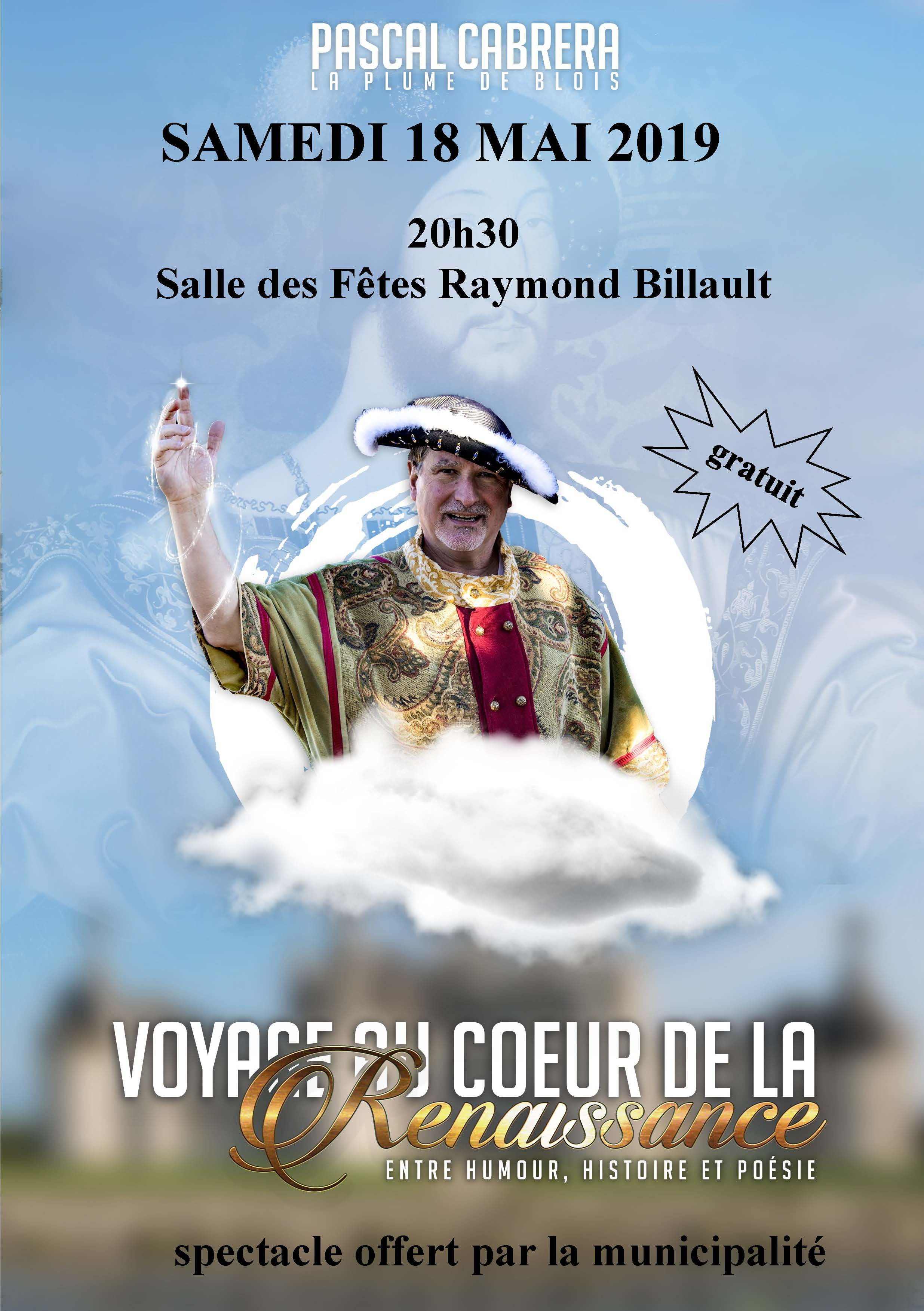 Spectacle Voyage au coeur de la Renaissance - Pascal CABRERA
