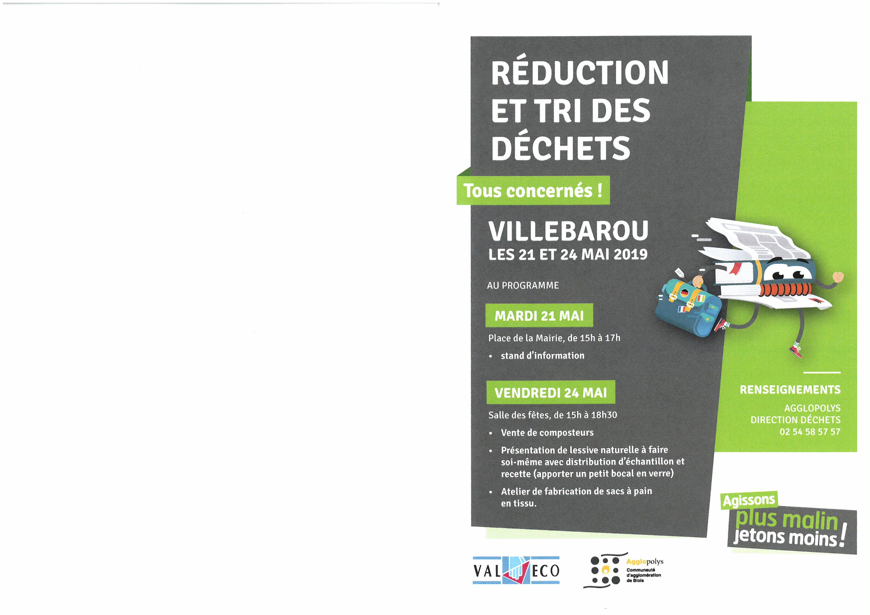 Semaine Réduction et tri  des déchets à Villebarou
