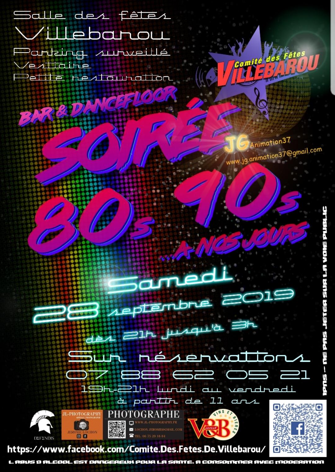 Comité des fêtes Villebarou - Soirée 80s - 90s