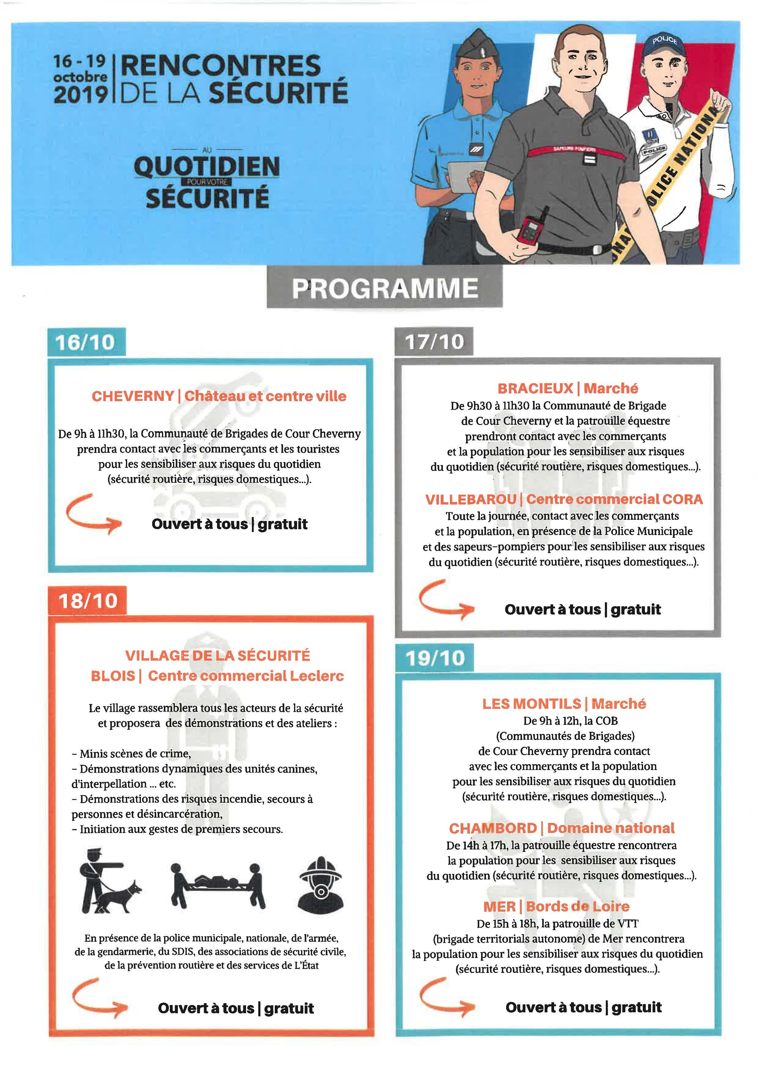 Rencontres de la sécurité à Villebarou