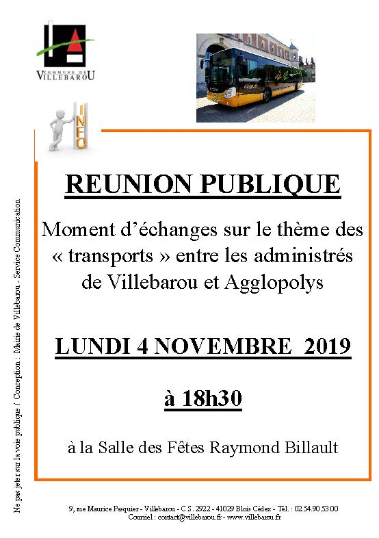 """Réunion publique """"Transports"""""""
