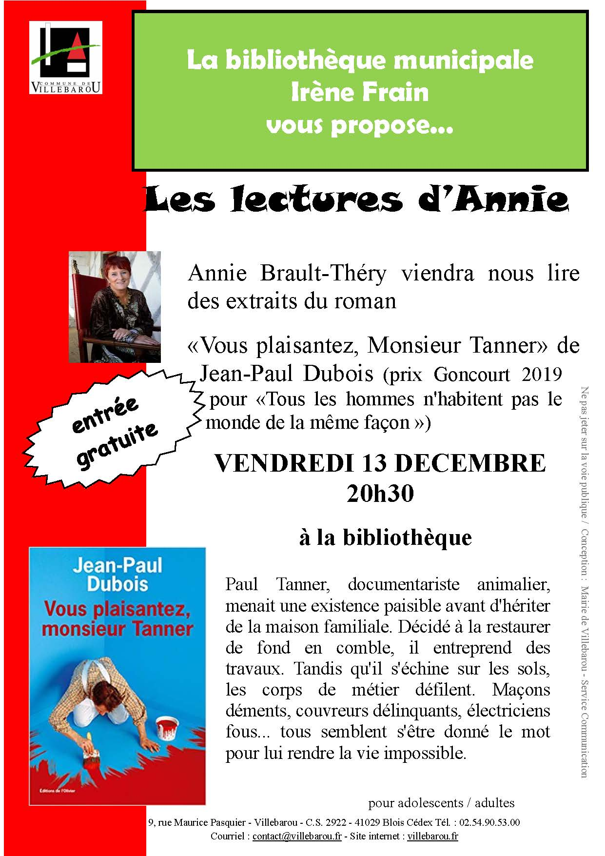 Lectures d'Annie BRAULT-THÉRY