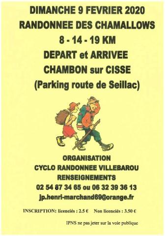 CYCLO RANDO-Randonnée des chamallows