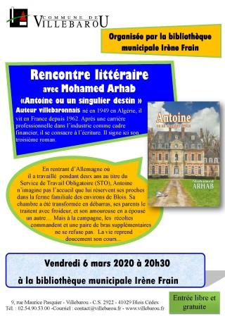 Rencontre littéraire avec Mohamed ARHAB