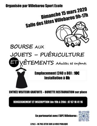 VSE-APE - Bourse aux jouets, puericulture et vêtements