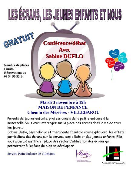 """Conférence-débat : """"Les écrans, les jeunes enfants et nous"""""""