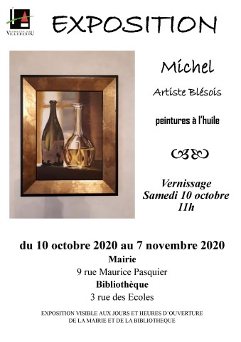 Exposition de peintures à l'huile de l'artiste blésois Michel PERRET