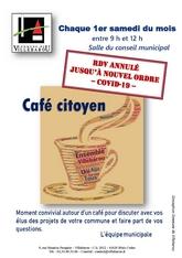 RDV  Café Citoyen annulé jusqu'à nouvel ordre
