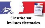 Inscriptions listes électorales